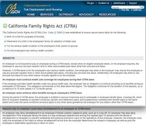 CFRA Unpaid Leave Explanation