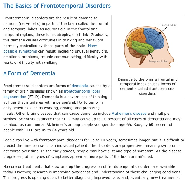 Frontotemporal Disorders