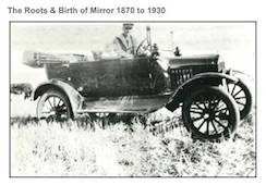 May with Dad 1918 Mirror Alberta Canada