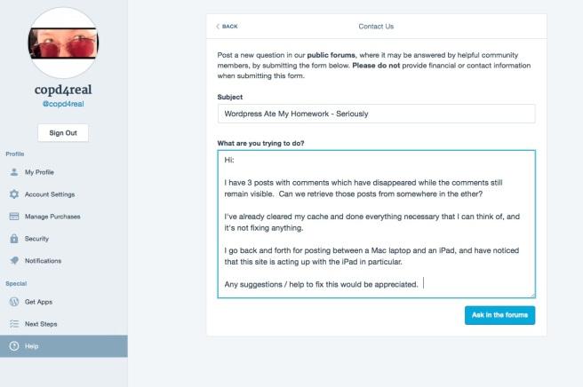 Wordpress Homework