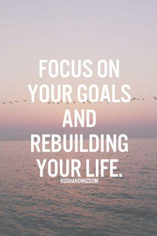 Goals for rebuilding
