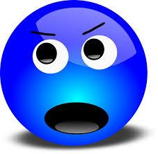 Blue Angry Emoji