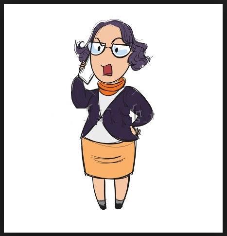 Screaming woman on phone 02
