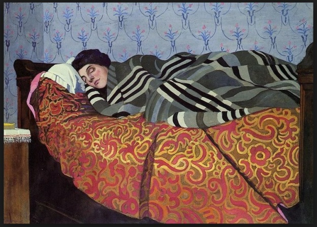 Felix Edouard Vallotton - Laid Down Woman Sleeping