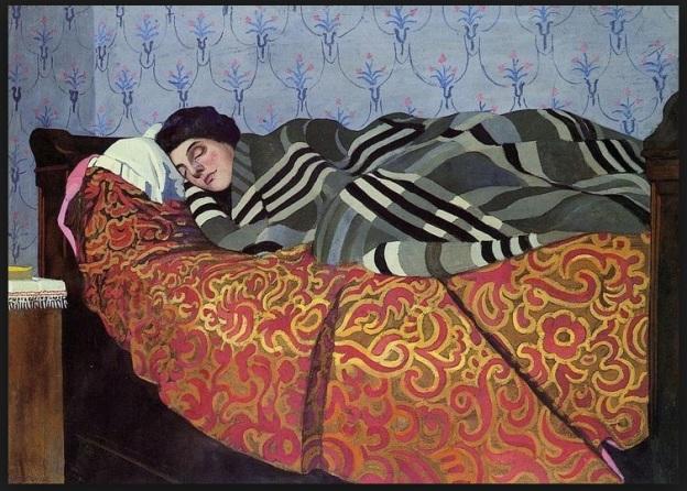 Felix Edouard Vallotton - Laid Down Woman Sleeping