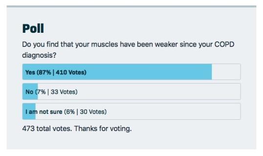 COPD Weaker Muscles