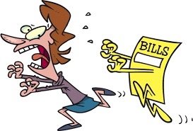 bills chasing woman