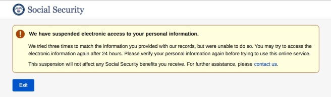 SSA access lockout