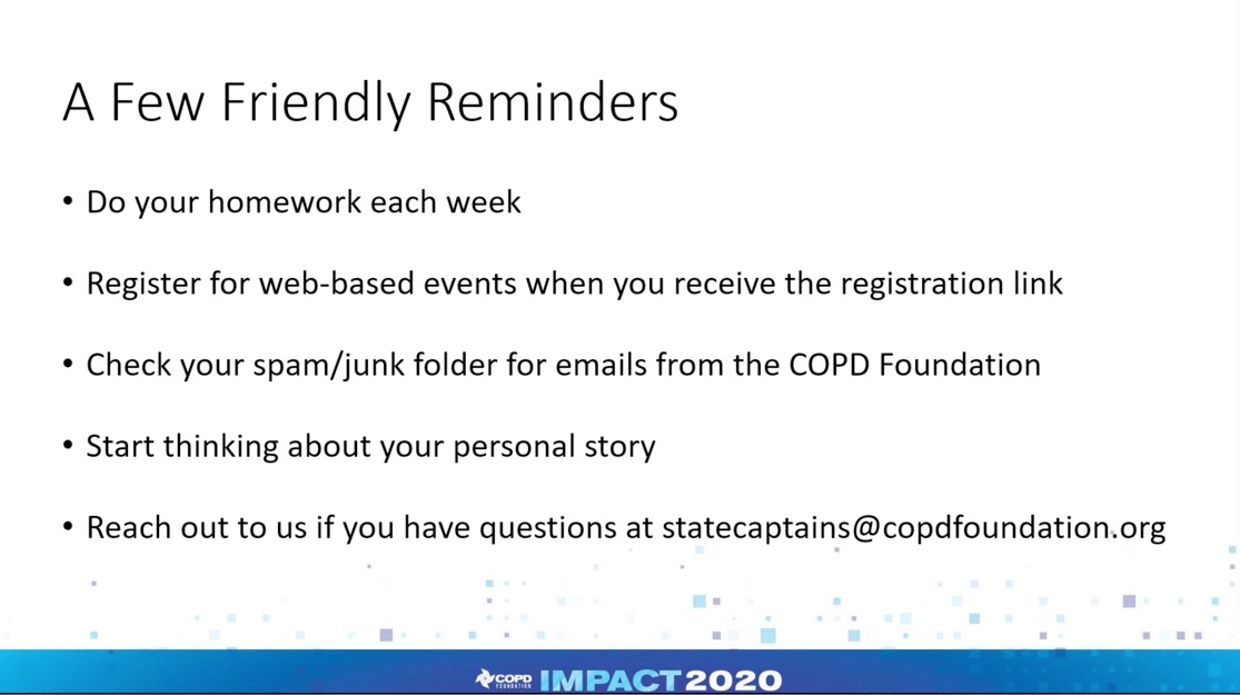 Impact 2020 Homework reminder